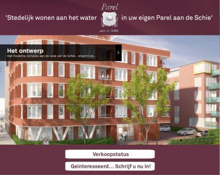Parel aan de Schie: 14 luxe appartementen aan de Nieuwelaan 178