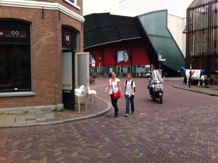 Gevaarlijk! hoek Achterom - Asvest - Vesteplein - Brabantse Turfmarkt