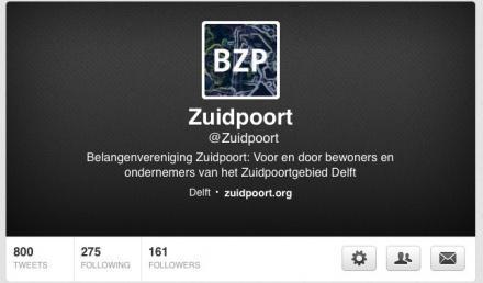 Twitter de twit van Zuidpoort 800 berichten