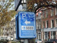 parkeer chaos in binnenstad Delft
