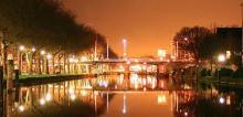 Sebastiaansbrug bij nacht (foto ZJA)